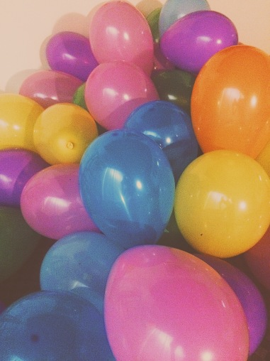 Balloons with a jellybean surprise